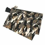 Heavy Duty Camouflage Waxed Canvas Tool Pouches One-piece Waterproof Tool Bag...