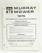 Used Murray 1975 Rider And Rotary Lawn Mowers Parts Catalog + 1975 Price List