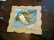 Johnson Sea-horse Outboard Motors Die Cut Green Winged Teal Duck Advertise Sign
