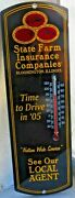 State Farm Insurance Co,bloomington Illinois,time To Drive In 05,thermometer