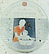 General Electric Ge Deluxe Water Heater Antique Cover Emblem Sign Wall Hanger