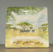 New Large Square Candy Tray Safari Pattern Gien