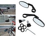 Bar End Mirrors Fits Honda Cafe Racer Project Quality Black Cnc Machined Pair