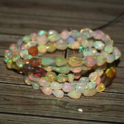4x6-5x8 Mm Ethiopian Opal Faceted Tear Drop Beads Multi Color Opal Necklace Gift