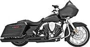 Freedom Union 2-into-1 Exhaust System-blk For Harley-davidson 95-14 Hd00233