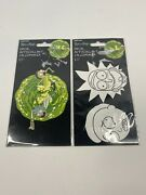 Rick And Morty Auto Decal, Sticker, Adult Swim By Cartoon Network Lot Of 2 New