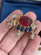 Trifari Brooch Elephant Moghul And039jewels Of Indiaand039 Des 155195 1949s A.philippe