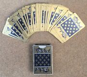 Games Cards Art Deco Carriage Gold Horses 52 Cards Playing Bridge Whist