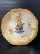 Vintage C.c. Thompson Pottery Ironstone Serving Dish 1800and039s Lusterware