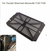 For Triumph Street Twin Bonneville T120 T100 Blk Tank Radiator Protective Cover