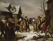 Oil Painting In The Winter Of 1788, Louis Xvi Distributed Relief To The Poor