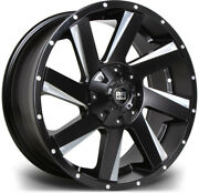 Alloy Wheels 20 Riviera Rx100 Black Face For Ford Ranger [mk5] Arch Kit 16-20