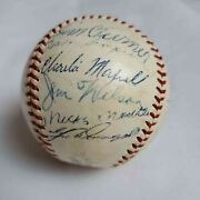 Mickey Mantle Signed Baseball Ted Williams Nellie Fox 1956 All Stars