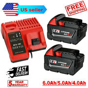 For Milwaukee M18 Xc 5.0/6.0 Ah Extended Lithium Battery 48-11-1860 Fast Charger