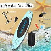 Inflatable 10/11and039 Stand Up Paddle Board Sup Surfboard W/ Complete Kits 6and039and039thick