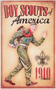 Boy Scouts Of America Since 1910 Big Metal Retro Look Collectors Sign Brand New