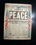 Great Japanese Surrenders End Of World War Ii Peace V-j Day 1945 Wwii Newspaper