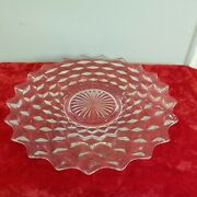 Vintage American Fostoria Glass Crystal Serving Cake Pie Plate 12and039and039