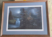 Jesse Barnes Harmony With Nature Limited Edition Print /1950 Signed Framed Matte