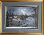 Jesse Barnes Holiday Homecoming Framed And Matted Limited Edition Print 2367/350