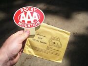 Original 1950 Andlsquos- 1940s Vintage Aaa Auto Glow Emblem Nos Badge Chevy Gm Ford Vw