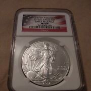 2012s American Silver Eagle - Early Releases - Graded Ngc Ms69 Bu 3615007-158