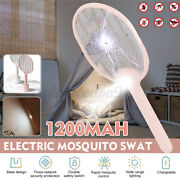 Electric Mosquito Swatter With Base Fly Insect Repellent Killer Pest Us