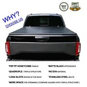 5.5and039/67.1 Hard Quad-fold Tonneau Cover Truck Bed For 2015-2021 Ford F-150