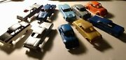 Lot Of 10 Vintage 1950's Plasticville/marx Mixed Plastic Toy Cars, Used.