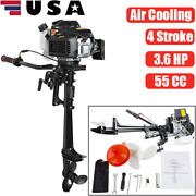 4 Stroke 3.6 Hp 55cc Outboard Motor Boat Engine With Air Cooling System Device