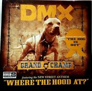 Dmx Signed Grand Champ Album Flat With The Letter Of Authenticity