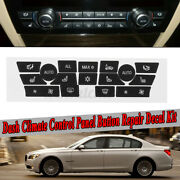 Dashboard Ac Button Repair Dual Climate Control Decal Stickers For Bmw 7 Series