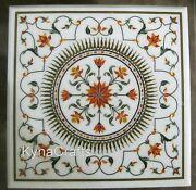 30 Inch Marble Coffee Table Top Pietra Dura Art Dining Table From Heritage Art