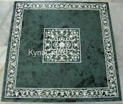 Border Design Dining Table Top Green Marble Kitchen Table For Living Room 48