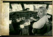 Cara Bailey One The Youngest Women Fly For Commerci - Vintage Photograph 2257573