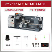 1.5hp 8x16 Inch 2250rpm Mini Metal Lathe W Brushless Motor 3-jaw Chuck And More