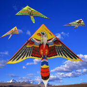 1.1m Flat Eagle Kite Children Flying Bird Kite Windsock Outdoor Toy For Kidf Hh
