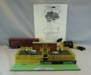 American Flyer S Scale 771 Operating Stockyard W/car, Controller And Cattle And Ob