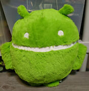 Google Android 12 Plush Robot Stuffed Toy Green White Doll Pillow Figure