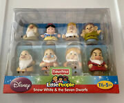 New Snow White And The Seven Dwarfs Fisher Price Little People Disney Mattel
