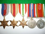 Ww2 Africa And Italy Star South African Named Medal Group Of 5 To R.e. Martell
