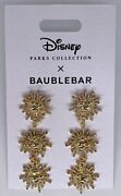 Disney Parks Collection Baublebar Mickey Mouse Icon Fireworks Gold Tone Earrings
