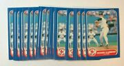 Lot X20 - 1986 Fleer Roger Clemens Red Sox 345 Vintage Iconic 2nd Year Nm/mt++