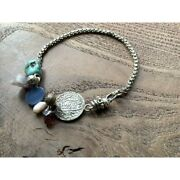 Morocco Antique Coins And Vintage Turquoise Bracelets