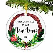 Juppe First Christmas In Our New Home 2021ornament Mr And Mrs Newlywed Xmas Tre...