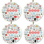 4 Packs 2020 Christmas Ornament Quarantine2020 A Year To Forget Pandemic Orna...