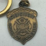 Vintage Acorn Iof Independent Order Foresters Fob Keychain 95th Anniv //