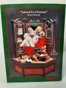 Enesco Tailored For Christmas Action Musical Music Box