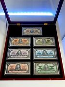 Canada 🇨🇦 1937 - Incredible Set Of 7 Notes 1 To 100- In Presentation Case