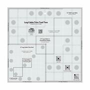 Creative Grids Log Cabin Trim Tool Two 6in And 12in Blocks Quilt Ruler - Cgrjaw2
